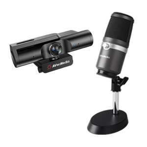 AVerMedia 4K UHD 網路攝影機 PW513+高音質 USB 麥克風 AM310